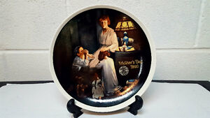 7 NORMAN ROCKWELL PLATES selling very cheap