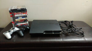 PS3 Slim 120 GB with 18 Games
