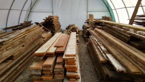BARN MATERIAL FOR SALE (boards, beams, rafters, etc.)