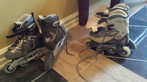 2 pair of rollerblades size 6