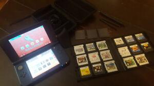 Nintendo 3DS XL (Blue) + 27 games