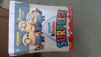 MINIONS KINDER SURPRISE EGGS (BOX OF 24) BRAND NEW!