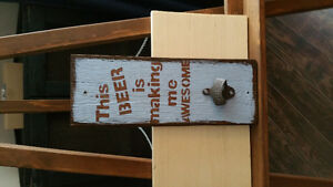 Indoor sale of handcrafted wood signs etc Prince George British Columbia image 3
