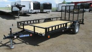 REDUCED!!! 2017 SINGLE AXLE TRAILER 14 FT W/GATE (3500LBS GVW)