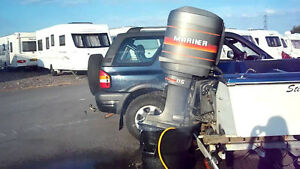 115 HP MARINER OUTBOAR MOTOR/WITH CONTROLS/POWER TRIM