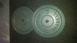 """Standard weight plates/bars  1"""" center"""