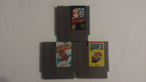 Mario 1, 2, and 3 Game Lot (NES)