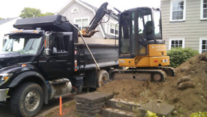 Excavation. Landscaping. Drainage
