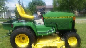 22 HP John Deere 455 Diesel Lawn Tractor