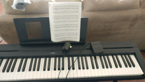 Yamaha piano with pedal and stand!