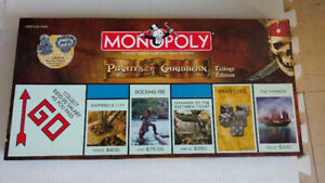 New MONOPOLY PIRATES OF THE CARIBBEAN TRILOGY Edition (Retired &