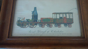Two Framed Prints: Empire State Express & Charleston Train Kitchener / Waterloo Kitchener Area image 3