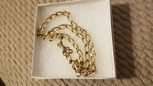 """10k Solid Gold Chain 20"""" long 28.9 Grams Nice Link"""
