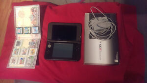 3DS XL (black) with 11 games