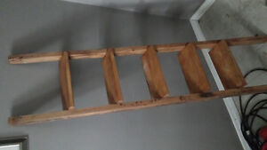 5 Tier Ladder shelf   stained   real wood!!