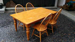 "Dining Room 72"" x 42"" (Harvest) table with 4 chairs"