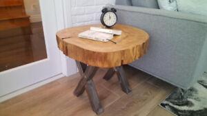 Table basse en bois d'arbre (3)