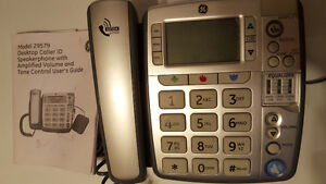 GE Amplified volume, large numbers land line phone