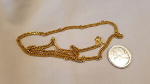 """24K Pure Solid Gold Necklace Chain Weighs 19.1 Grams 18"""" long."""