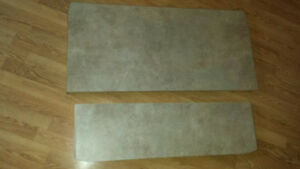 Free:2 pieces of counter, also 5 pieces of marble looking counte