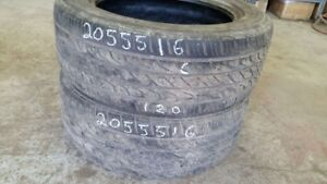Pair of 2 Toyo Extensa AS 205/55R16 tires (60% tread life)