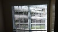 "2"" White Fauxwood Blinds"