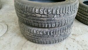 Pair of 2 Nokian WR G3 185/65R15 WINTER tires (80% tread life)