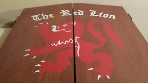 Red Lion Dart Board and Cabinet Kitchener / Waterloo Kitchener Area image 1
