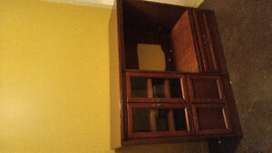 Entertainment Center Solid Cherrywood
