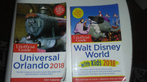 2018 Unofficial guides to Disney World and Universal Florida