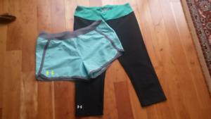 Under Armour Package!!  UA Shorts + Yoga Pants, Women Size M