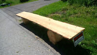PINE LIVE EDGE BENCH 14 FEET LONG, 15 INCHES WIDE 3 INCHES THICK