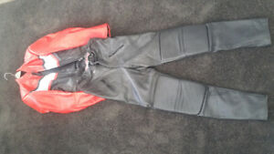 Leather jacket and pants excellent condition