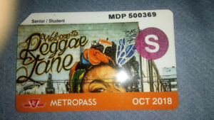 Student metro pass for sale for $65.00!!