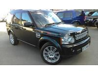 2011 LAND ROVER DISCOVERY 4 SDV6 HSE FANTASTIC SUMATRA BLACK WITH BEIGE LEAT