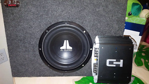 10 Inch Subwoofer and Amp