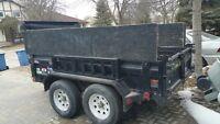 5x8 hydraulic dump trailer