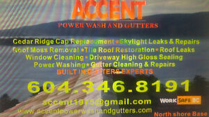 ACCENT Power Wash & Roofing .....Roof De-Moss...Gutters.... North Shore Greater Vancouver Area image 1