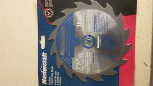 Assorted 7 1/4 saw blades