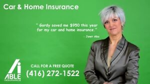 SAVE UP TO 60% ON CAR AND HOME INSURANCE