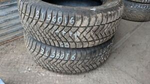 Pair of 2 Maxxis M+S 215/60R16 WINTER tires (95% tread life)