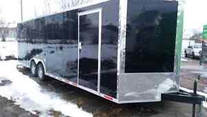 2015 26x8.5 black enclosed trailer