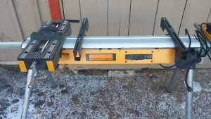 Contractor work stand with electric and vice