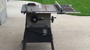 Rockwell / Beaver Table Saw For Sale One Horse Power Motor Nice