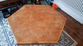Hexagonal coffee/dining/games table