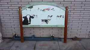 Custom painted head board with frame Belleville Belleville Area image 3