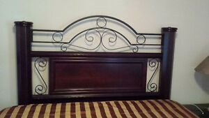 Cadre de lit en merisier / Cherrywood bedroom frame (Queen size)