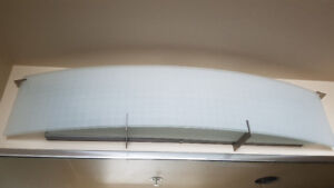 Frosted Glass Bathroom Light Fixture