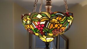 3 Stained glass ceiling fixtures $125 each