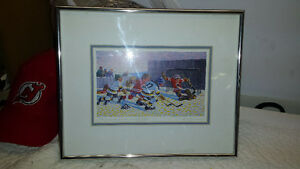 Famous canadian hockey artist print Bill Brownridge